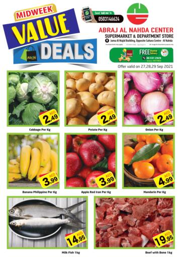 UAE - Sharjah / Ajman Abraj Hypermarket offers in D4D Online. Mid Week Deals. . Till 29th September