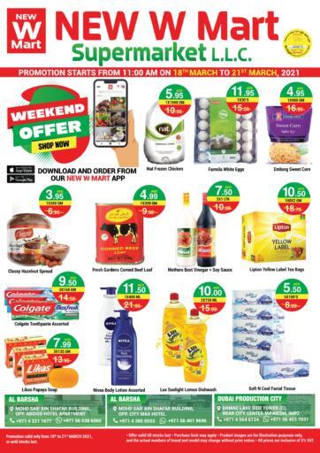 UAE - Dubai NEW W MART SUPERMARKET  offers in D4D Online. Special Offer. . Till 21st March