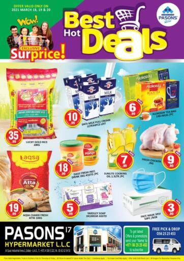 UAE - Dubai Pasons Supermarkets & Hypermarkets offers in D4D Online. Al Quoz - Best Hot Deals. . Till 20th March
