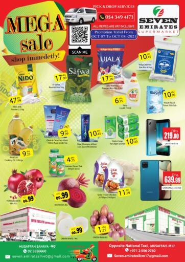 UAE - Abu Dhabi Seven Emirates Supermarket offers in D4D Online. Mega Sale. . Till 8th October