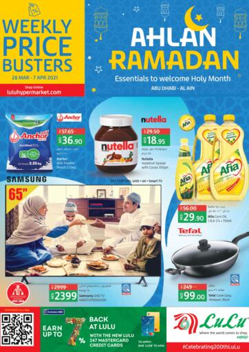 UAE - Abu Dhabi Lulu Hypermarket offers in D4D Online. Ahlan Ramadan. . Till 7th April