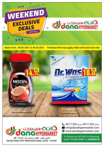 Qatar - Doha  Dana Hypermarket offers in D4D Online. Weekend Exclusive Deals. . Till 6th March