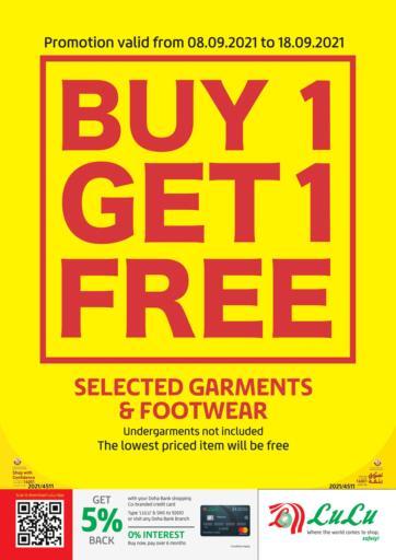 Qatar - Al Khor LuLu Hypermarket offers in D4D Online. Buy 1 Get 1 Free. . Till 18th September