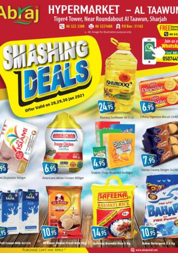 UAE - Sharjah / Ajman Abraj Hypermarket offers in D4D Online. Smashing Deals. . Till 30th January