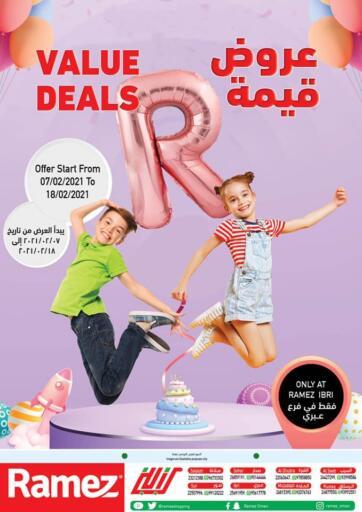 Oman - Sohar Ramez  offers in D4D Online. Ibri - Value Deals. . Till 18th February
