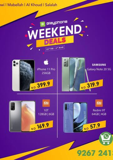 Oman - Muscat Playphone offers in D4D Online. Weekend Offer. . Till 4th March