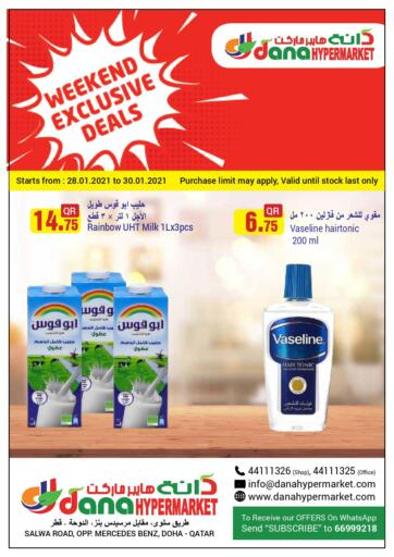 Qatar - Doha  Dana Hypermarket offers in D4D Online. Weekend Exclusive Deals. . Till 30th January