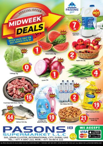 UAE - Dubai Pasons Supermarkets & Hypermarkets offers in D4D Online. Midweek Deals. . Till 30th March