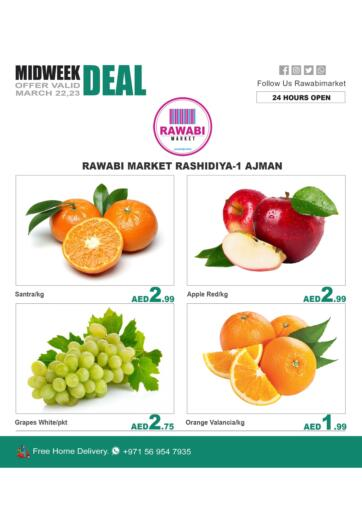 UAE - Sharjah / Ajman Rawabi Market Ajman offers in D4D Online. Midweek Deal. . Till 23rd March