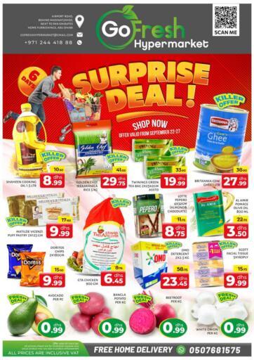 UAE - Abu Dhabi GO FRESH HYPERMARKET LLC offers in D4D Online. Surprise Deals. Surprise Deals Now Going At Go Fresh Hypermarket. Valid Till 27th September 2021.  Enjoy Shopping!!!. Till 27th September
