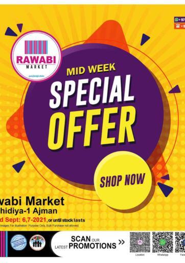 UAE - Sharjah / Ajman Rawabi Market Ajman offers in D4D Online. Special Offers @ Rashidiya. Special Offers Now From Rawabi Market. Offer Valid Till 07th September 2021.  Enjoy Shopping!!!. Till 7th September