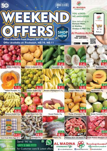 UAE - Abu Dhabi Al Madina Hypermarket offers in D4D Online. Weekend Offers @ Fresh Mart, ME10, ME 11. . Till 28th August