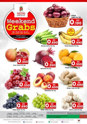 Bahrain NESTO  offers in D4D Online. Weekend Grabs. . Till 4th September