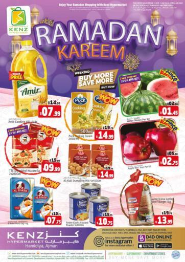 UAE - Sharjah / Ajman Kenz Hypermarket offers in D4D Online. Buy More Save More. Ramadan Kareem Offer Now Available At Kenz Hypermarket.Rush Now And Get Everything At Best Price. Offer Valid Till 18th April 2021.  Enjoy Shopping!!!. Till 18th April