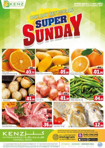 UAE - Sharjah / Ajman Kenz Hypermarket offers in D4D Online. Super Sunday. . Only On 1st August