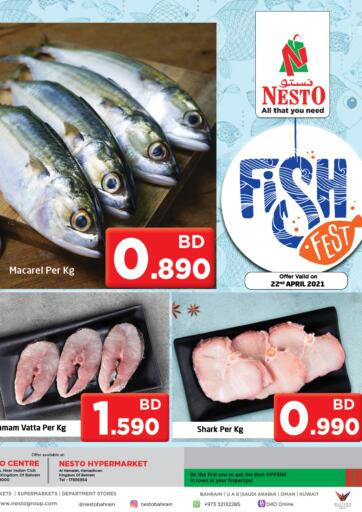 Bahrain NESTO  offers in D4D Online. Fish Fest. . Only on 22nd April