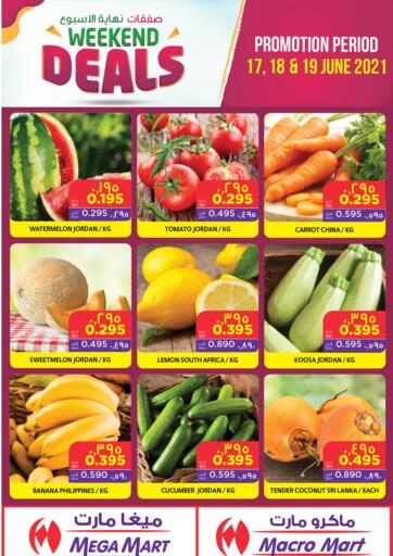 Bahrain MegaMart & Macro Mart  offers in D4D Online. Weekend Deals. Weekend Deals At MegaMart & MacroMart! Offer Includes Groceries, Fruits, Vegetables & much more at reduced prices. Offer Valid Till 19th June. Happy Shopping!!. Till 19th June