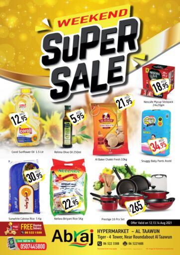 UAE - Sharjah / Ajman Abraj Hypermarket offers in D4D Online. Weekend Super Sale. . Till 14th August
