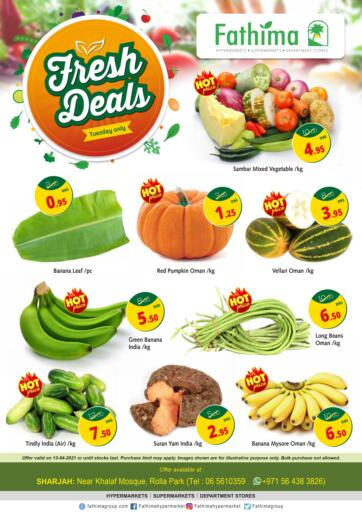 UAE - Sharjah / Ajman Fathima Hypermarkets & Supermarkets offers in D4D Online. Fresh Deals. . Only On 13th April