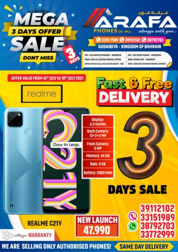 Bahrain Arafa Phones offers in D4D Online. Mega Sale - 3 Days Offer. Mega Sale - 3 Days Offer at Arafa Phones!! Buy Your Favorite Mobile Phones and Accessories at Unbelievable Rates.Offer Valid Till 18th July. Hurry Now!!. Till 18th July