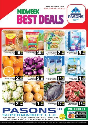 UAE - Dubai Pasons Supermarkets & Hypermarkets offers in D4D Online. Midweek Best Deals. . Till 23rd February
