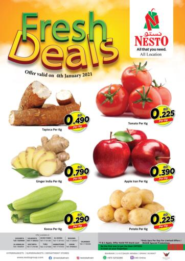 Bahrain NESTO  offers in D4D Online. Fresh Deals. . On 04th January