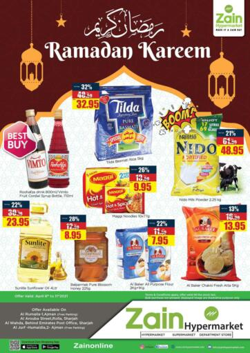 UAE - Sharjah / Ajman Zain Hypermarket offers in D4D Online. Ramadan Kareem. . Till 11th April
