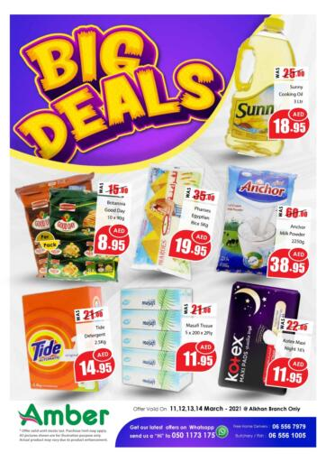 UAE - Sharjah / Ajman Amber Al Madina Hypermarket offers in D4D Online. Big Deals. . Till 14th March