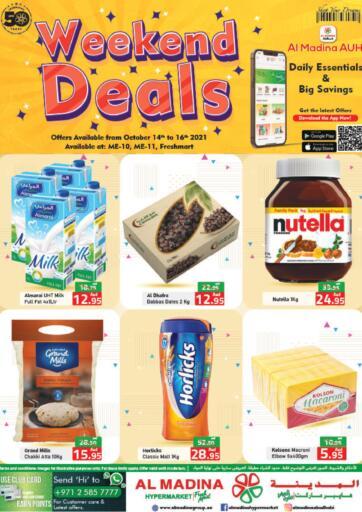 UAE - Abu Dhabi Al Madina Hypermarket offers in D4D Online. Weekend Deals @ Fresh Mart, ME10, ME 11. . Till 16th October