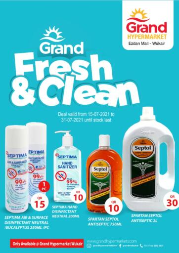 Qatar - Al-Shahaniya Grand Hypermarket offers in D4D Online. Fresh And Clean @ Wukair. Fresh And Clean Offers Are Available At Grand Hypermarket. Offers Are Valid Till  31st July  . Enjoy!!  . Till 31st July