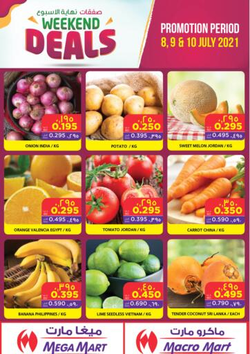 Bahrain MegaMart & Macro Mart  offers in D4D Online. Weekend Deals. Weekend Deals At MegaMart & MacroMart! Offer Includes Groceries, Fruits, Vegetables & much more at reduced prices. Offer Valid Till 10th July. Happy Shopping!!. Till 10th July