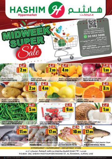 UAE - Sharjah / Ajman Hashim Hypermarket offers in D4D Online. Midweek Super Sale. Midweek Super Sale Are Waiting For You At Hashim Hypermarket.Get Your Products At Exiting Offer.Valid Till 27th July 2021.  Enjoy Shopping!!!. Till 27th July