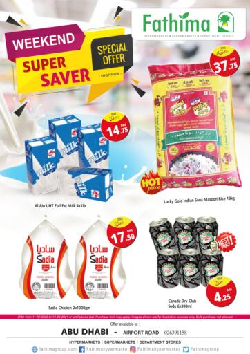 UAE - Abu Dhabi Fathima Hypermarkets & Supermarkets offers in D4D Online. Weekend Super Saver. . Till 13th February
