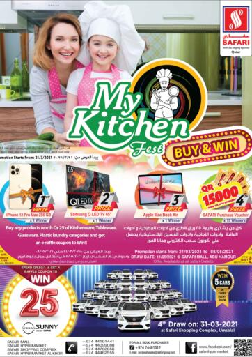 Qatar - Al Shamal Safari Hypermarket offers in D4D Online. My Kitchen Fest. My Kitchen Fest Offers Are Available At Safari Hypermarket. Offers Are Valid Until Stock Last.  Enjoy Shopping!!. Until Stock Last
