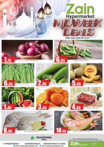 UAE - Sharjah / Ajman Zain Hypermarket offers in D4D Online. Midweek Deals. . Till 21st April