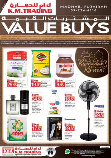 UAE - Fujairah K M Trading  offers in D4D Online. Value Buys. . Till 27th April