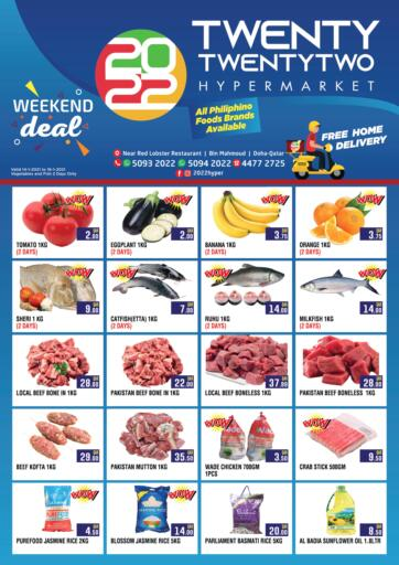 Qatar - Doha Twenty TwentyTwo offers in D4D Online. Weekend Deal. Weekend Deal  Offers Are Available At Twenty TwentyTwo. Offers Are Valid Till 16th January. Hurry up!. Till 16th January