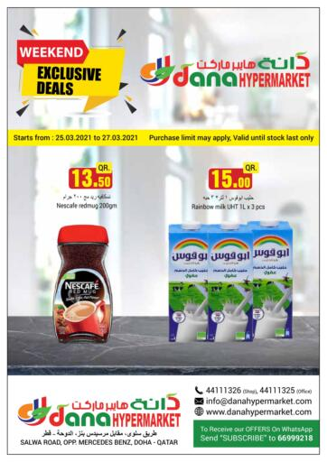 Qatar - Doha  Dana Hypermarket offers in D4D Online. Weekend Exclusive Deals. Weekend Exclusive Deals Offers Is Available At Dana Hypermarket. Get your Favourite Products at Best Prices. Offers Are Valid Till  27th March. Enjoy Shopping!!. Till 27th March