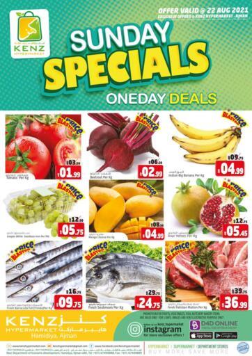 UAE - Sharjah / Ajman Kenz Hypermarket offers in D4D Online. Sunday Deals. . Only On 22nd August