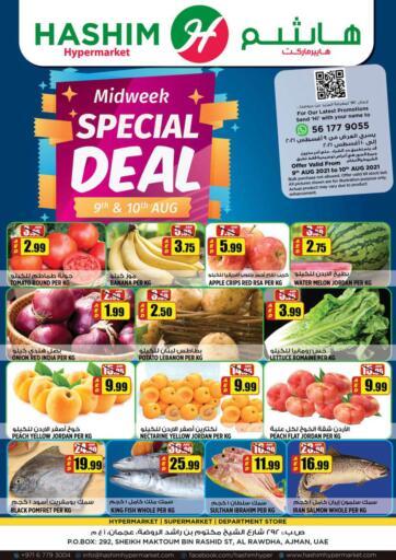 UAE - Sharjah / Ajman Hashim Hypermarket offers in D4D Online. Mid Week Special Deal. . Till 10th August