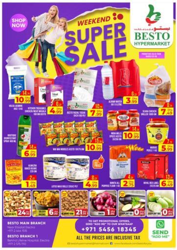 UAE - Abu Dhabi Besto Hypermarket offers in D4D Online. Weekend Super Sale. . Till 6th March