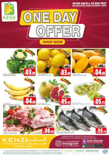 UAE - Sharjah / Ajman Kenz Hypermarket offers in D4D Online. One Day Offer. . Only On 25th August