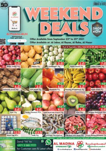 UAE - Abu Dhabi Al Madina Hypermarket offers in D4D Online. Weekend Deals @Al Jaber,Al Raha,Al Rayan,Al Naser. . Till 25th September