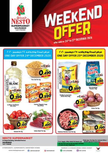 Bahrain NESTO  offers in D4D Online. Weekend Offer. . Till 27th December