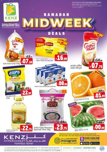 UAE - Sharjah / Ajman Kenz Hypermarket offers in D4D Online. Ramadan Midweek Deals. Ramadan Midweek Deals Now Available At Kenz Hypermarket.Rush Now And Get Everything At Best Price. Offer Valid Only On 21st April 2021.  Enjoy Shopping!!!. Until Stock Lasts