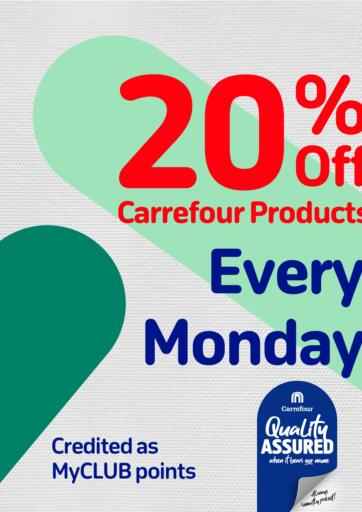 Bahrain Carrefour offers in D4D Online. 20% Off Every Monday. . Only On 06th September