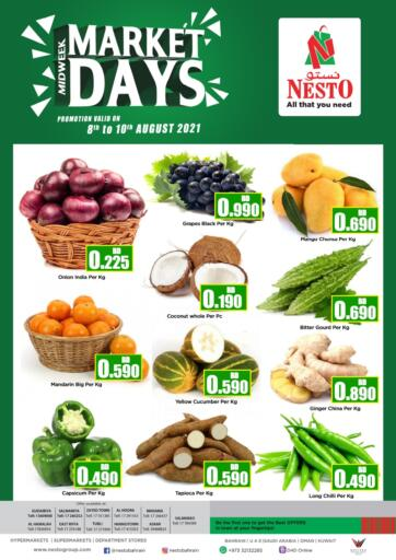 Bahrain NESTO  offers in D4D Online. Midweek Market Days. . Till 10th August