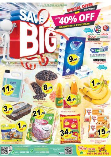 UAE - Ras al Khaimah Gulf Hypermarket offers in D4D Online. Save Big Offer. . Till 12th December