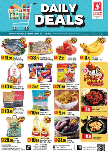 Qatar - Al Wakra Safari Hypermarket offers in D4D Online. Daily Deals. . Only On 16th March
