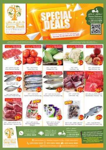 Qatar - Umm Salal Carry Fresh Hypermarket offers in D4D Online. Special Deals. Now get this Special Deals  Offers on all products from Carry Fresh Hypermarket. hurry now. offer valid Till 3rd March. Enjoy Shopping!!!. Till 3rd March